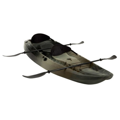Lifetime 10' Sport Fisher Tandem Kayak - (Camo, Paddles, Backrest)