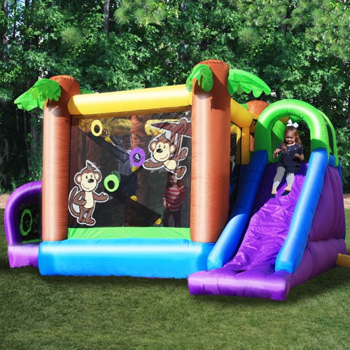 KidWise Monkey Explorer Jumper - Inflatable Bounce House