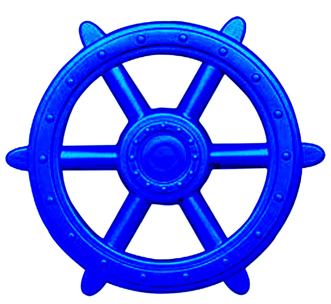 Blue Ships Wheel - Playset Accessories