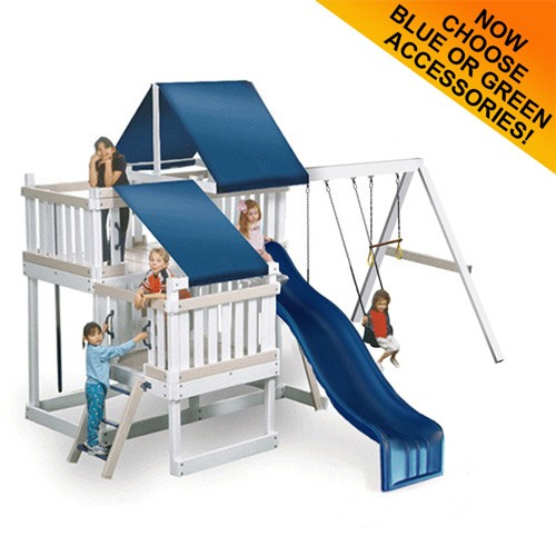 Monkey Play Set Package #2 White and Sand With Blue Accessories