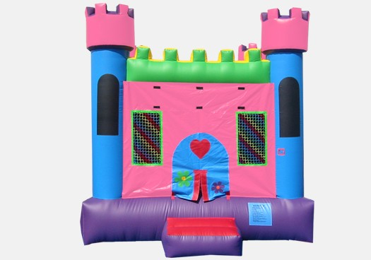 Pink Castle 1 - Commercial Inflatable Bounce House