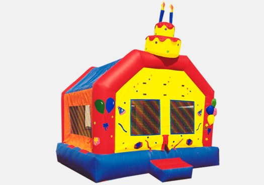 Birthday Cake Bouncer - Commercial Inflatable Bounce House