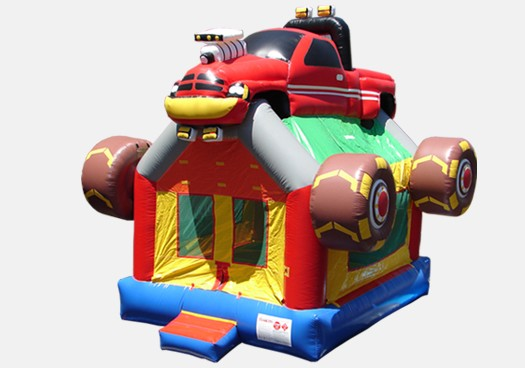 Monster Truck Bouncer - Commercial Inflatable Bounce House (red)