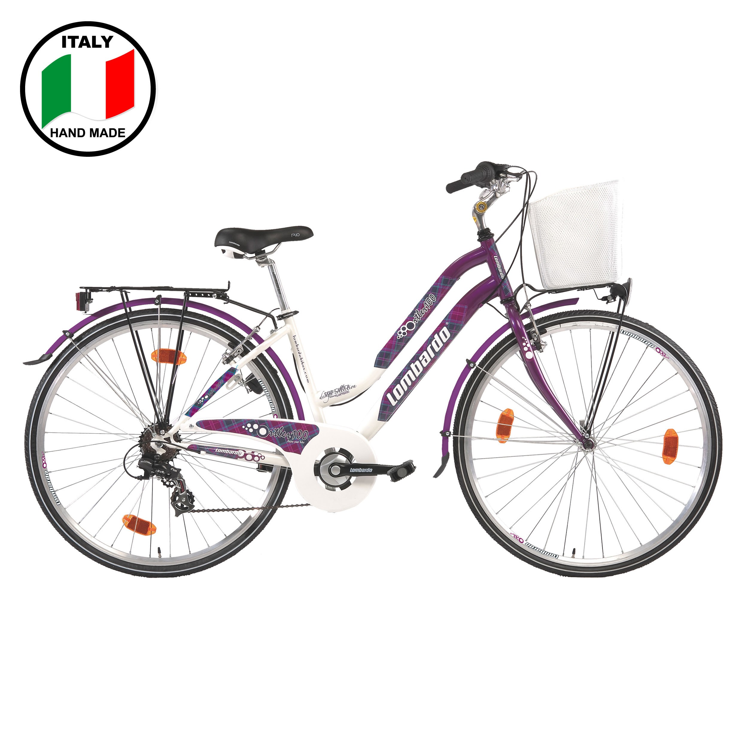 Lombardo Ortler 100 28 inch Women's Bike- Purple  and White