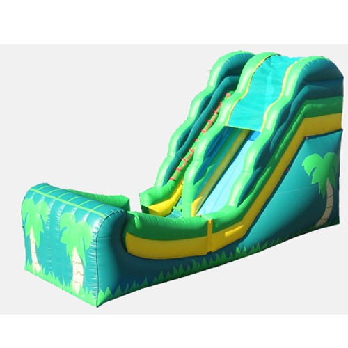 Tropical Wet and Dry Commercial Grade Inflatable Slide
