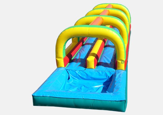 Slip and Slide Double Lane with Pool - Commercial Inflatable Waterslide