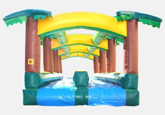 Hawaiian Slip and Slide Single Lane - Commercial Inflatable Waterslide