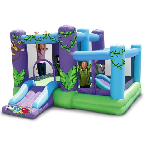 Zoo Park Bouncer with Ball Pit - Inflatable Bounce House