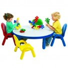 Angeles® Baseline® Toddler Round Table & 4 Chair Set, Multiple Colors