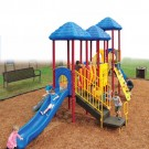 UPlay Rainbow Lake Triple Deck Commercial Playsystem - Playful