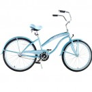 Greenline Ladies 24 Inch Deluxe Beach Cruiser - Baby Blue