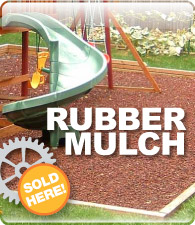 Hot deals on recycled rubber playground mulch!